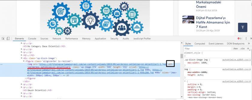 rakip site resim alt etiketi